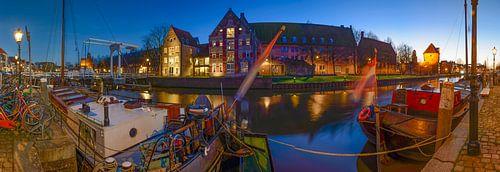 Thorbeckegracht in Zwolle tijdens de avond