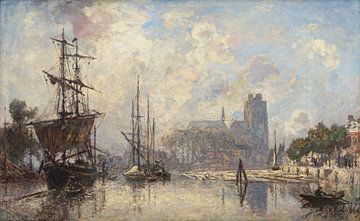 Het gezicht op Dordrecht, Johan Barthold Jongkind sur