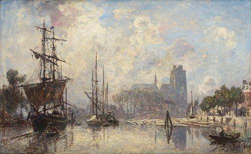 Der Blick auf Dordrecht, Johan Barthold Jongkind von Meesterlijcke Meesters