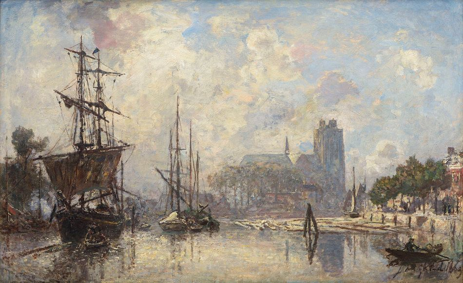 Het gezicht op Dordrecht, Johan Barthold Jongkind
