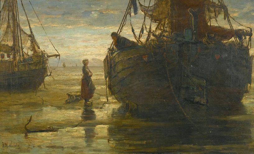 Sonntagmorgen, Hendrik Willem Mesdag von Meesterlijcke Meesters