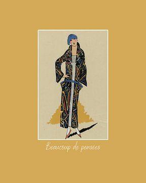 Beaucoup de pensées - Vintage Art  Deco mode print | Historische fashion van NOONY