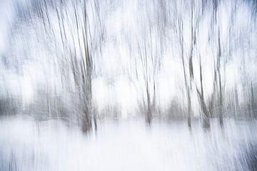 Een abstract landschap in de sneeuw - 6 van Danny Budts