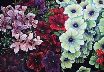 Blumen in dunklen Farben von David Morales Izquierdo