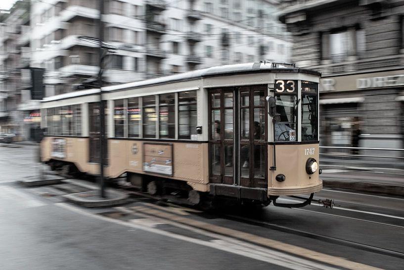 Tram in Milaan van Jacques Jullens