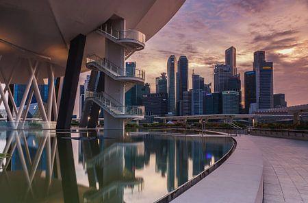 Singapore architecture at marina bay