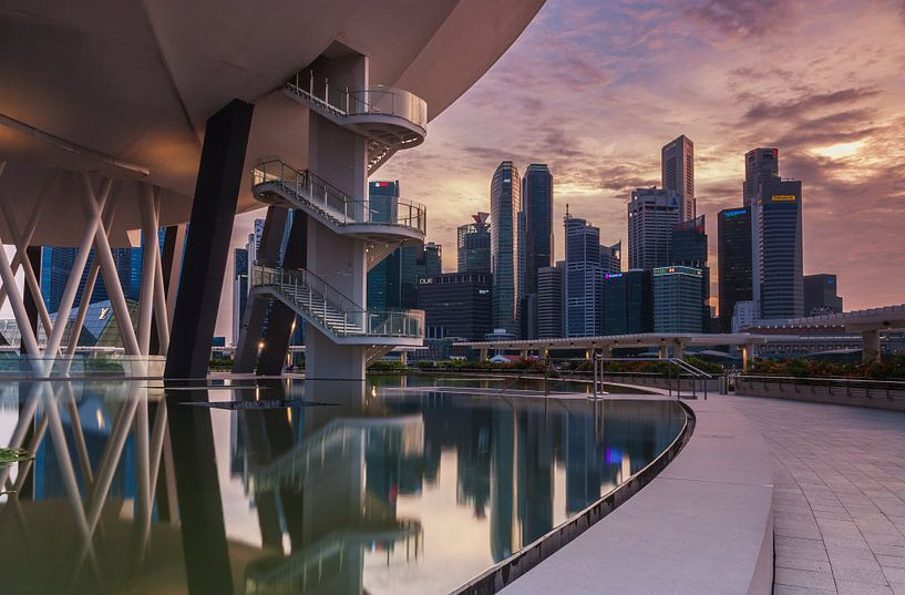 Singapore architecture at marina bay van Ilya Korzelius