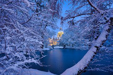 Stadhuis van Hannover in de winter van Michael Abid