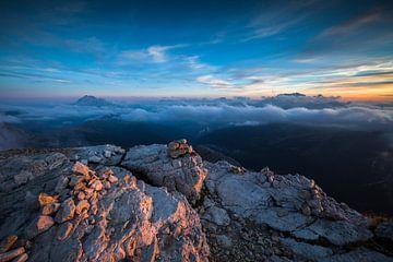Sonnenuntergang Dolomiten von Frank Peters