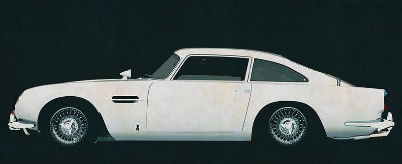 Aston Martin DB5 zijaanzicht van Jan Keteleer