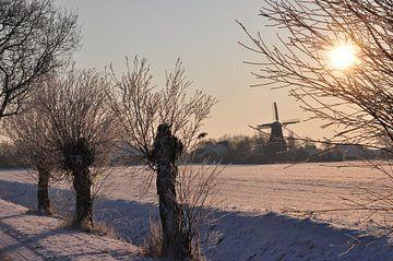 Windmühle mit Schnee / Windmühle mit Schnee von Henk de Boer