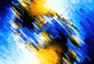 Abstracte muurschildering van Alexandra Kleist