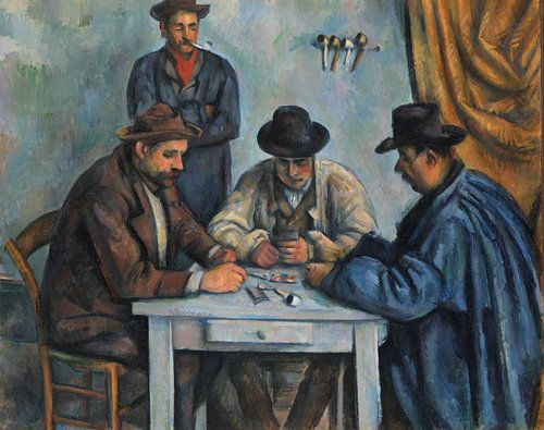 Paul Cézanne. De kaartspelers van 1000 Schilderijen