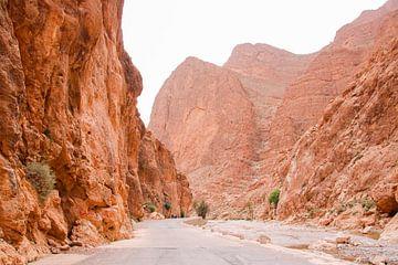 Rotslandschap in Roestkleuren: Todra Kloof, Marokko van The Book of Wandering