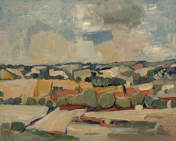 Heuvelland en koren nabij Voerendaal van Nop Briex