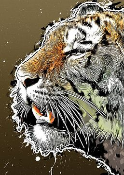 Tiger Wildkatze #Tiger von JBJart Justyna Jaszke
