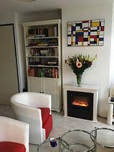 Kundenfoto: Komposition-II-Piet Mondrian von Marion Tenbergen, auf leinwand