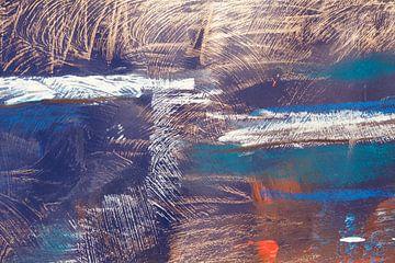 Abstrakt in Gold van Susanne A. Pasquay