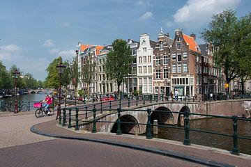 Zicht op de Keizersgracht Amsterdam van Peter Bartelings Photography
