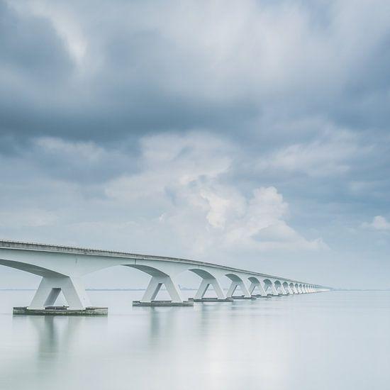 Lange sluitertijd Zeelandbrug (VIII) van Mirjam Boerhoop - Oudenaarden