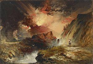 Thomas Moran, Macbeth en de heksen (mogelijk Highland Fantasy), 1858 - 1859