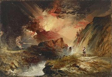 Thomas Moran, Macbeth en de heksen (mogelijk Highland Fantasy), 1858 - 1859 van Atelier Liesjes