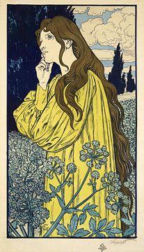 Miditatie, Eugene Grasset, 1897 van Atelier Liesjes