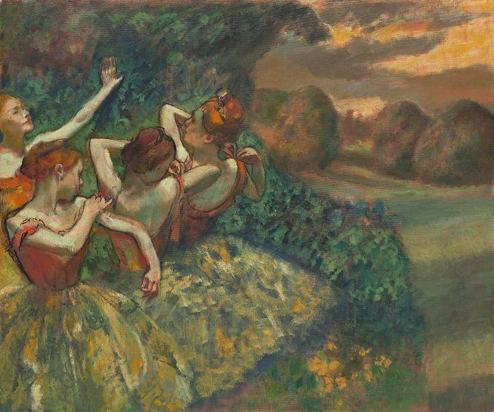 Edgar Degas. Four Dancers van 1000 Schilderijen