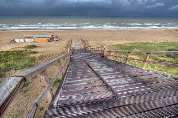 Trap naar het strand bij Wassenaar
