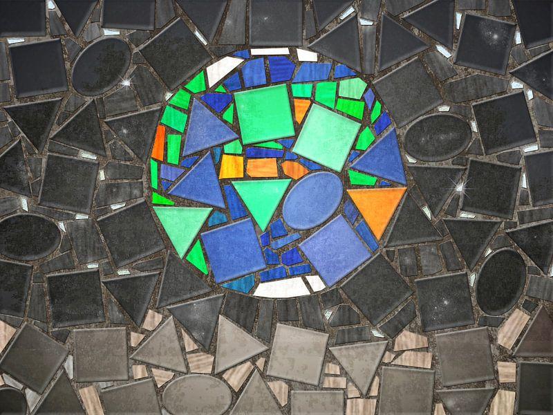 Mozaiek Earthrise van Frans Blok