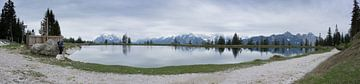 Panorama avec reflets à Seefeld sur annick caluwe