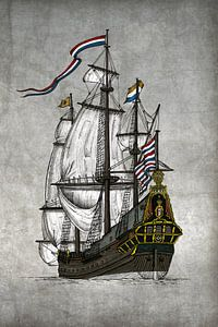 VOC Schip De Batavia van