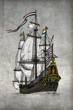 VOC Schip De Batavia von Willem Heemskerk