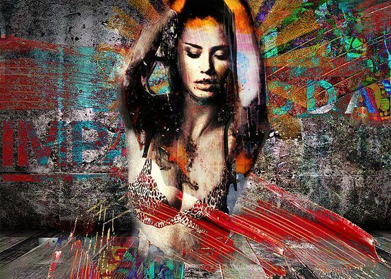 Pop Art celebrity beauty portrait