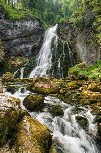 Waterfall in Golling in Austria