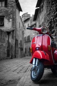 Rot Vespa Piaggio von Bart van der Borst