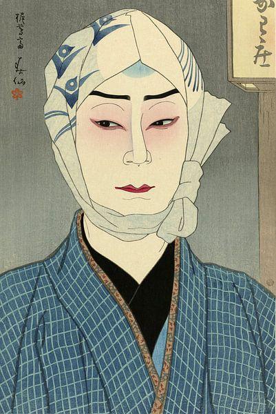 Der Schauspieler Nakamura Ganjiro II in der Rolle von Kamiya Jihei, Natori Shunsen von 1000 Schilderijen