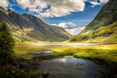 Glencoe Valley, Schotland van Dennis Wardenburg