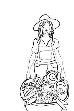 Gemüsegarten weiblich