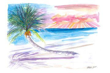 Lehnende Palme zum Entspannen auf Tortola Britische Jungferninseln von Markus Bleichner