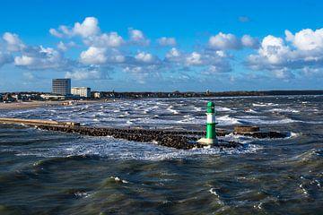 Mole an der Ostseeküste in Warnemünde sur Rico Ködder