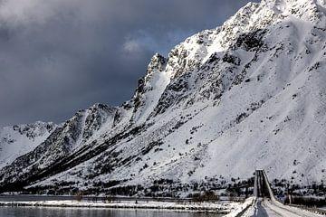 Brücke zu verschneiten Bergen von Hannon Queiroz