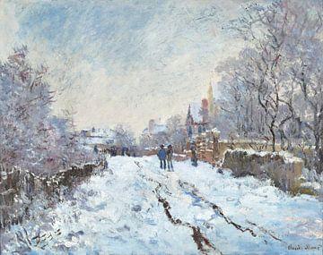 Schneelandschaft in Argenteuil, Claude Monet