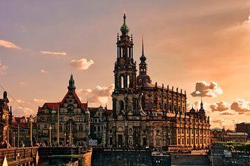 Dresden im Abendlicht von Dieter Ludorf