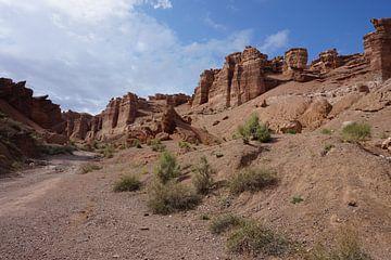 Charyn-Schlucht in Kasachstan von Lindy van Oirschot