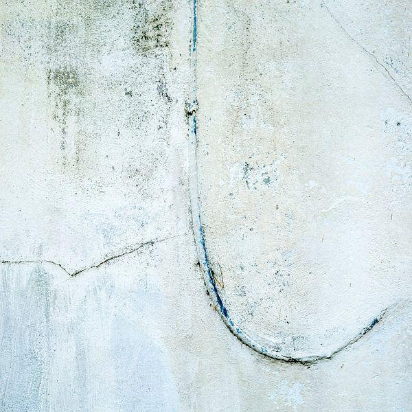 Muurabstract in wit - 1 van Hans Kwaspen