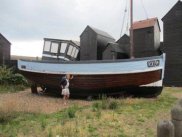 De RX 90 vissersboot in de haven van Rijen Engeland Londen van