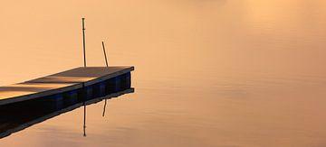 Steiger bij tijdens zonsopkomst, Beieren, Duitsland van Henk Meijer Photography