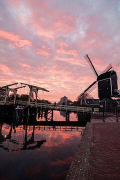 Zonsondergang Rijn sur Chris van Keulen