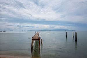Het strand van Bophut van het Vissersdorp, Koh samui, Thailand
